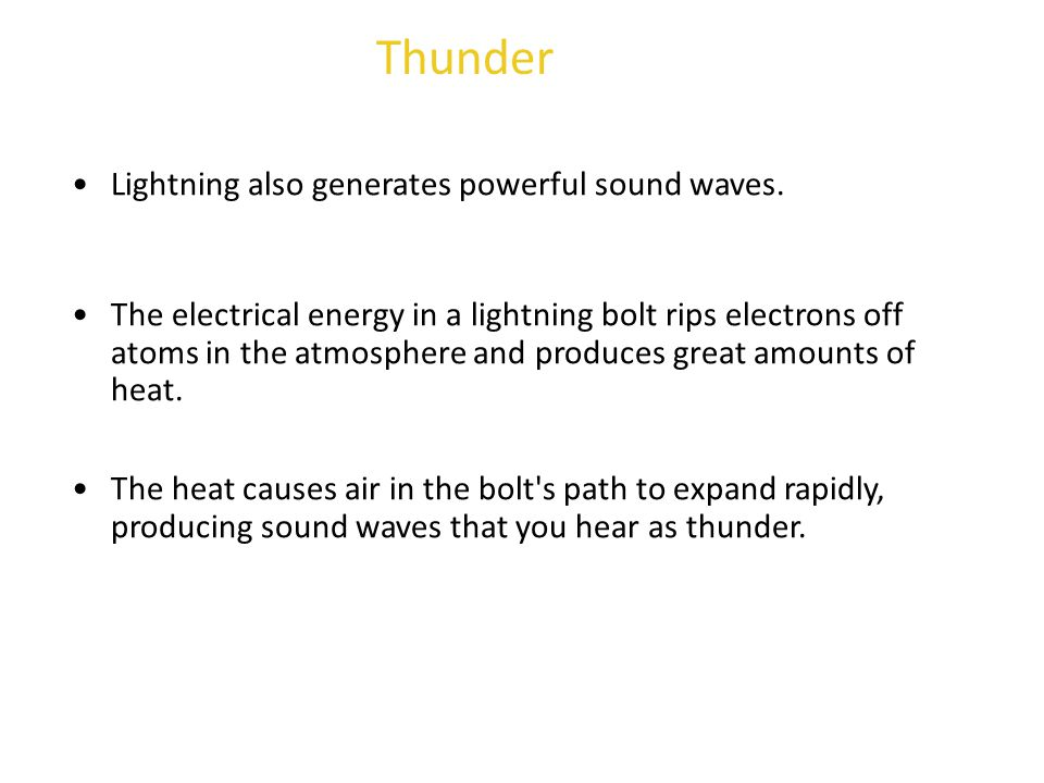 Thunder Lightning also generates powerful sound waves.