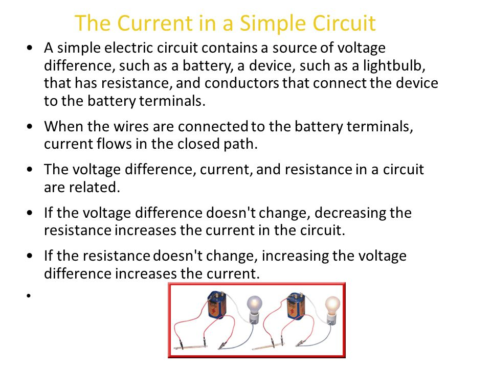 The Current in a Simple Circuit