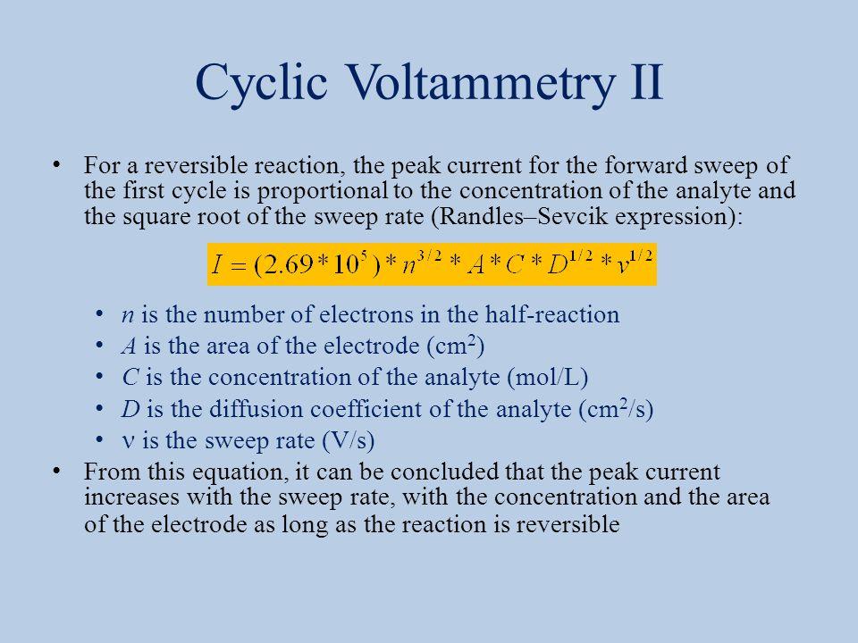 Cyclic Voltammetry II