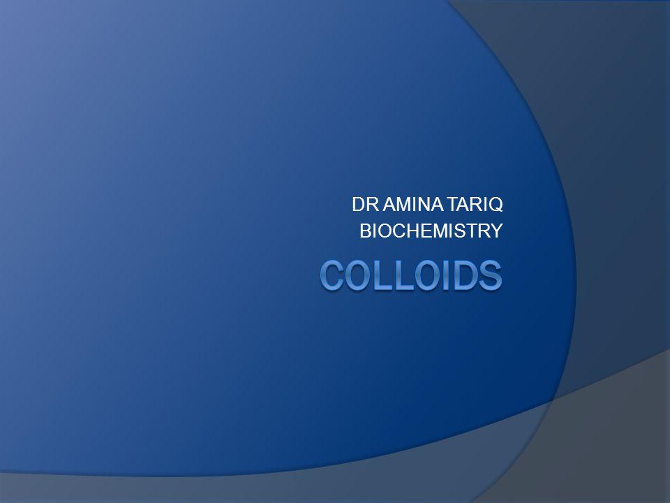 DR AMINA TARIQ BIOCHEMISTRY