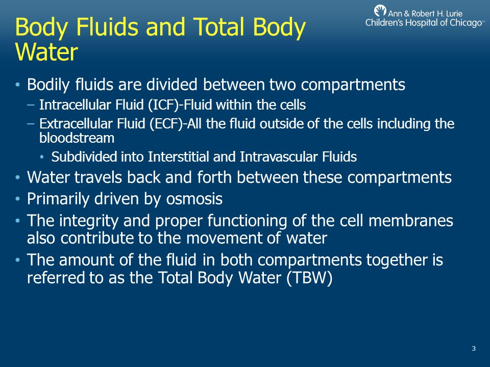 Body Fluids and Total Body Water