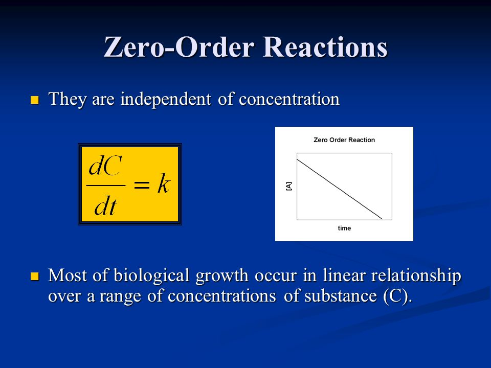 Zero-Order Reactions They are independent of concentration