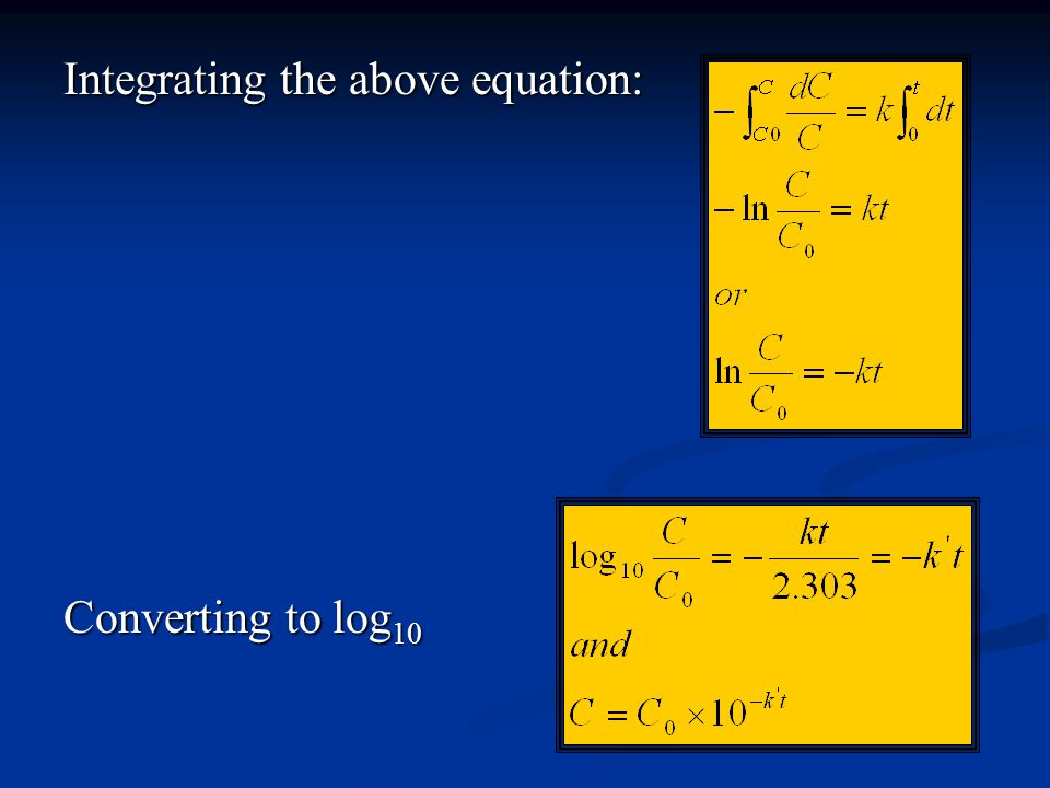 Integrating the above equation: