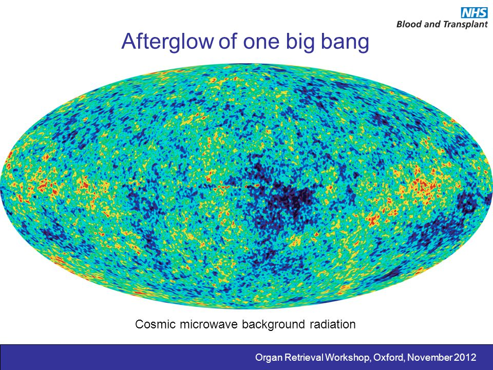Afterglow of one big bang