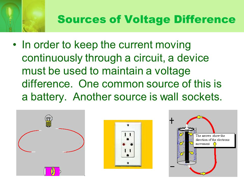Sources of Voltage Difference