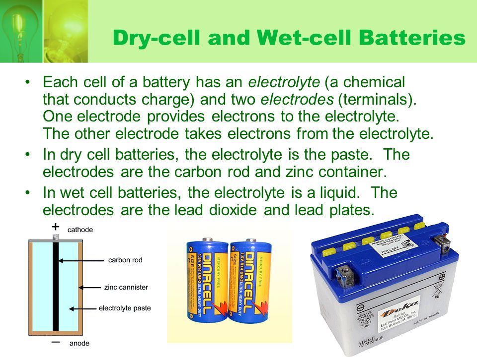 Dry-cell and Wet-cell Batteries