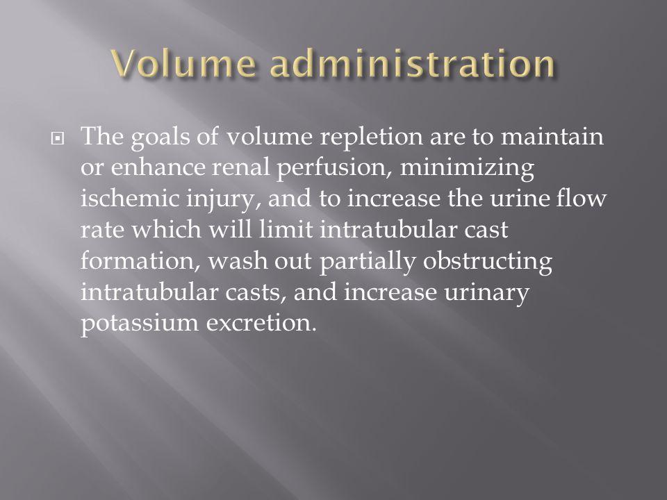 Volume administration