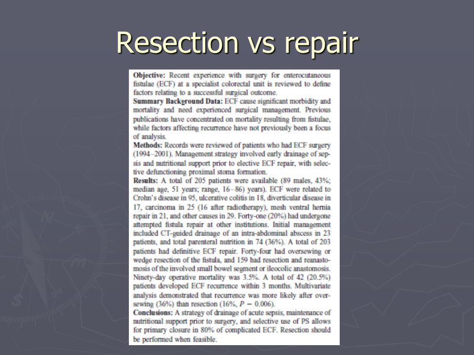 Resection vs repair