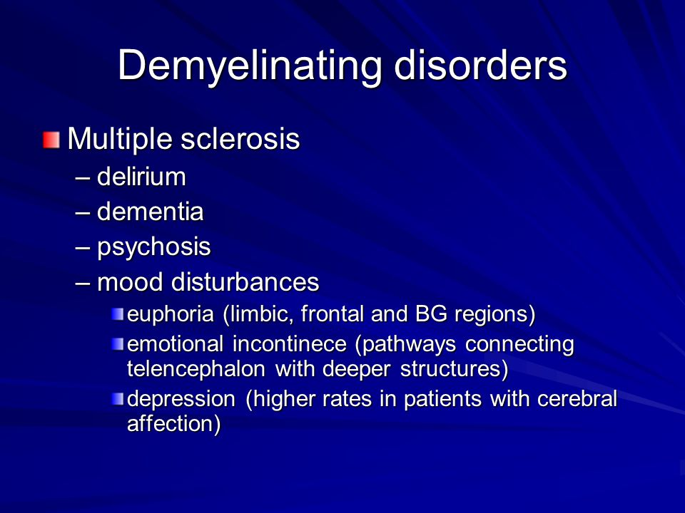 Demyelinating disorders