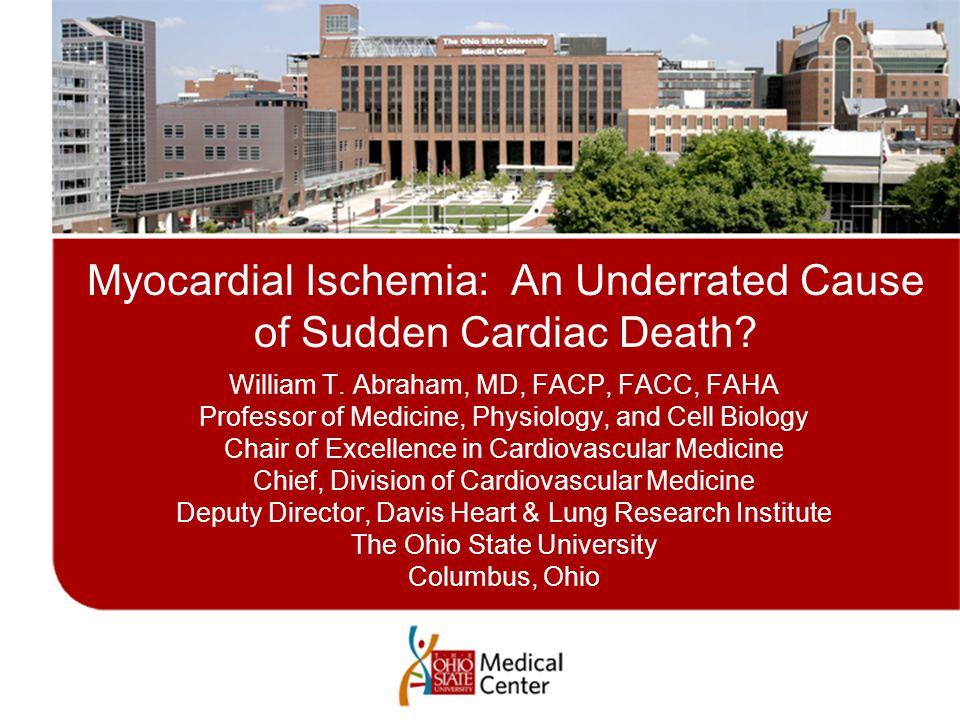 Myocardial Ischemia: An Underrated Cause of Sudden Cardiac Death