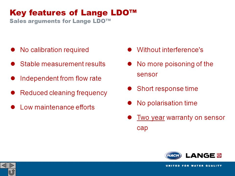 Key features of Lange LDO™