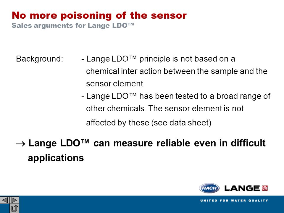 No more poisoning of the sensor