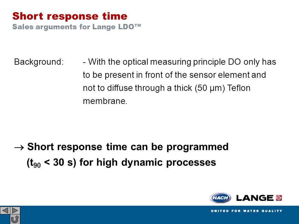 Short response time Sales arguments for Lange LDO™