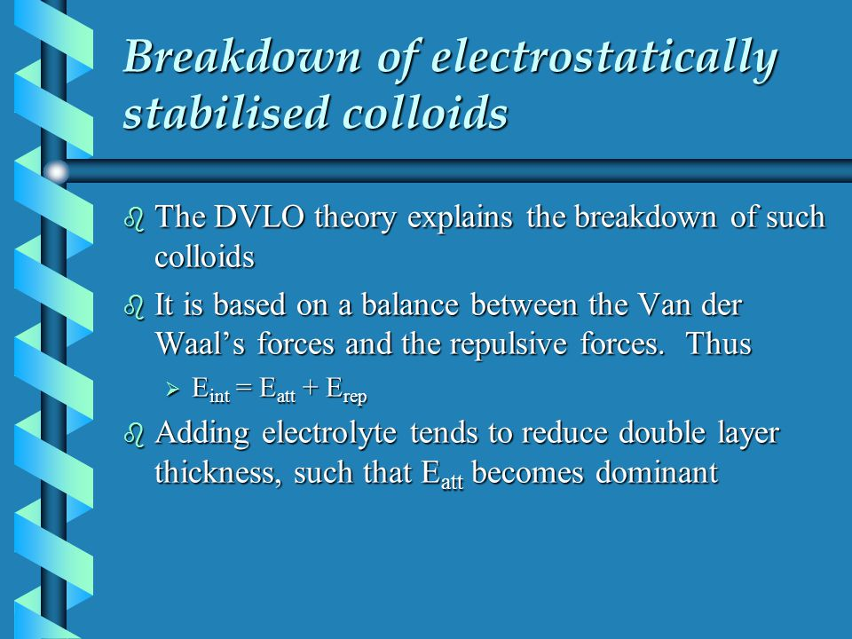 Breakdown of electrostatically stabilised colloids