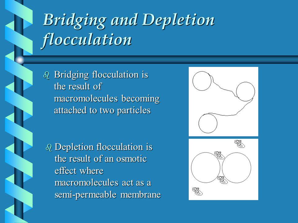 Bridging and Depletion flocculation