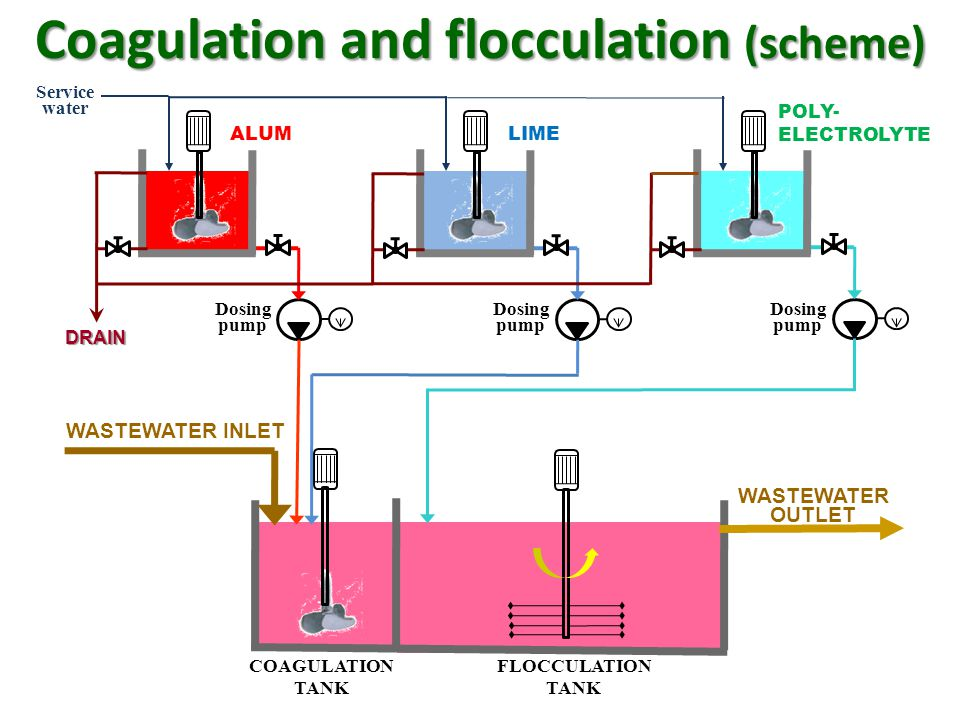 Coagulation and flocculation (scheme)