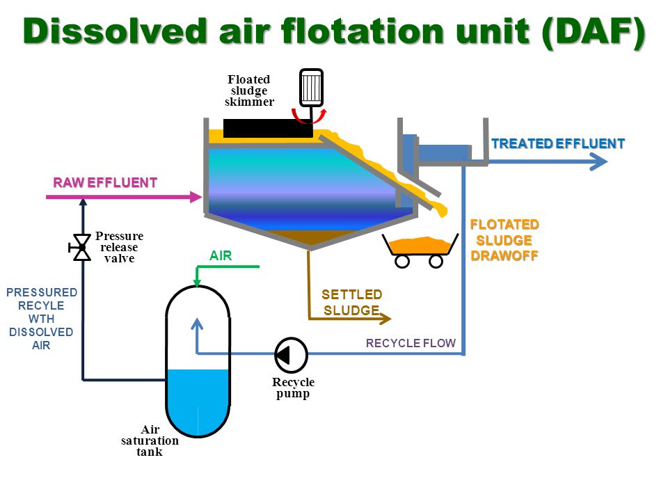 Dissolved air flotation unit (DAF)
