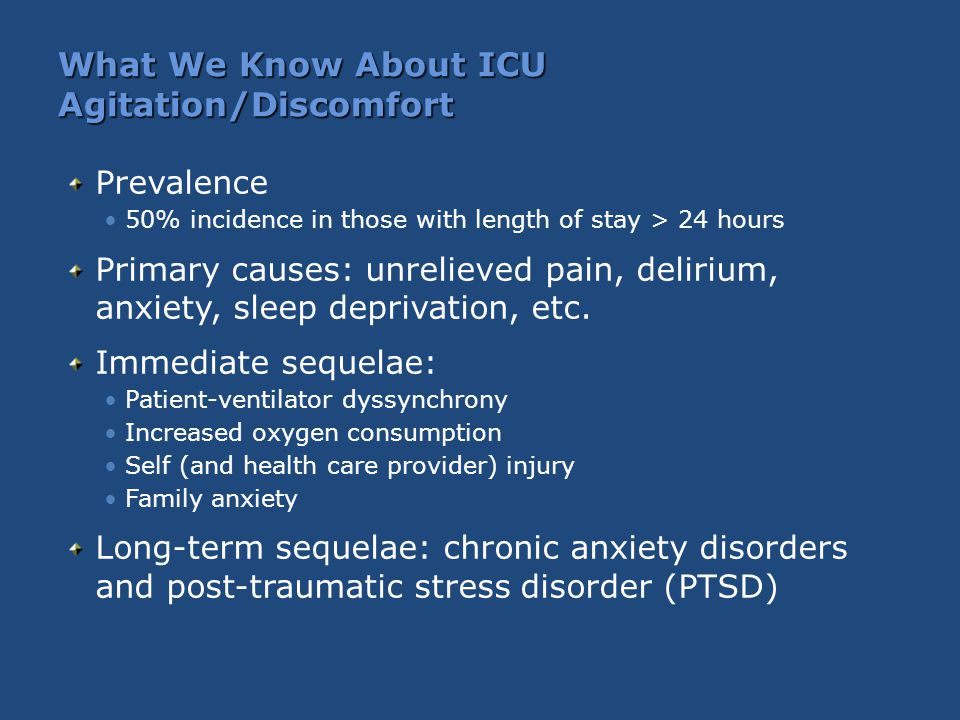 What We Know About ICU Agitation/Discomfort