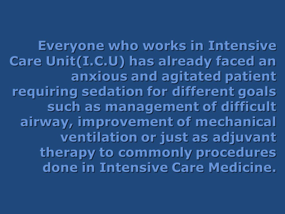 Everyone who works in Intensive Care Unit(I. C