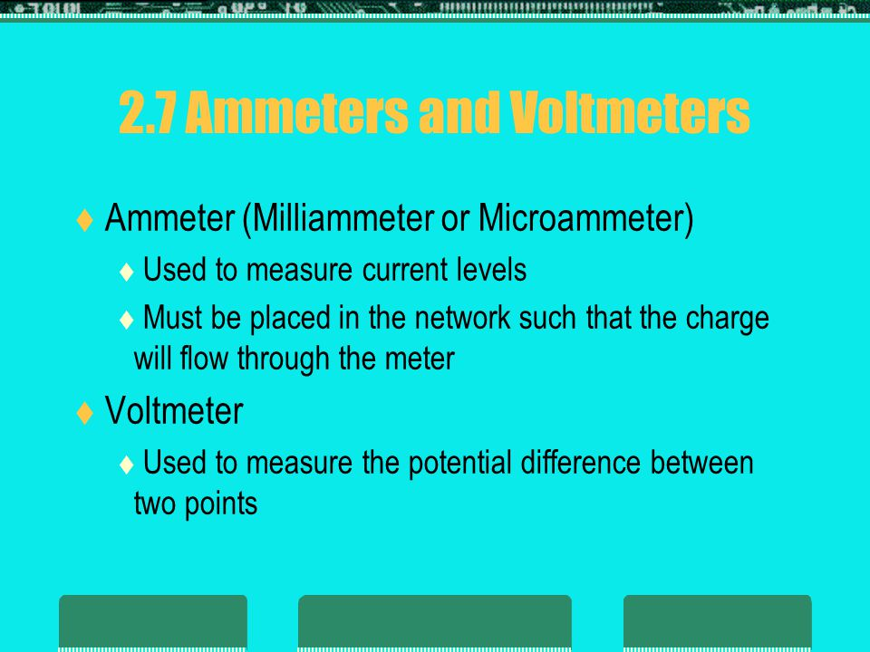 2.7 Ammeters and Voltmeters