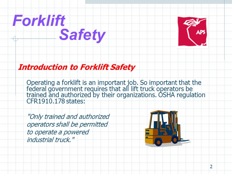 Forklift Safety Introduction to Forklift Safety