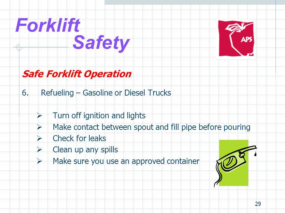 Forklift Safety Safe Forklift Operation