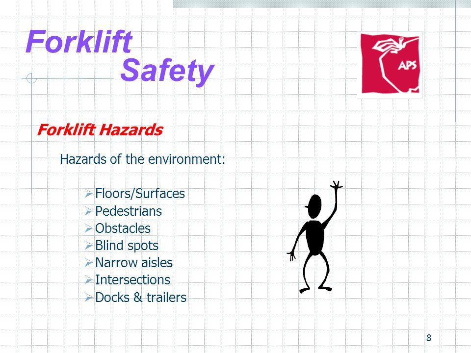 Forklift Safety Forklift Hazards Hazards of the environment: