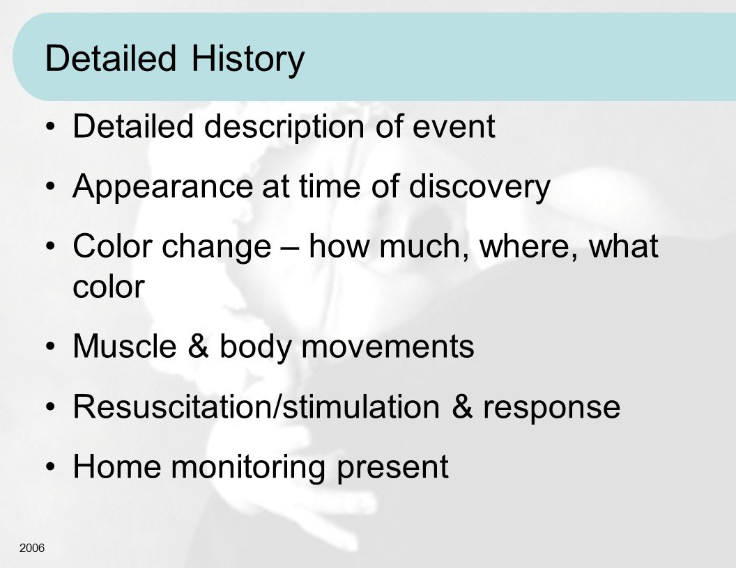 Detailed History Detailed description of event