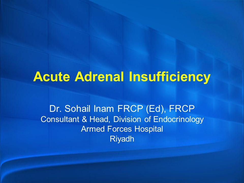 Acute Adrenal Insufficiency