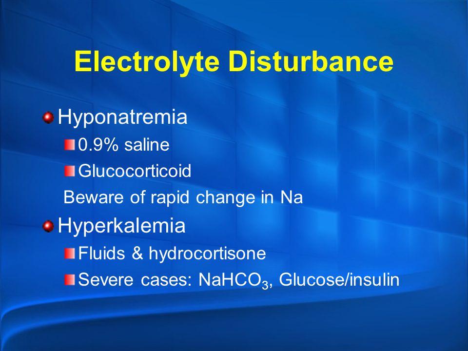 Electrolyte Disturbance