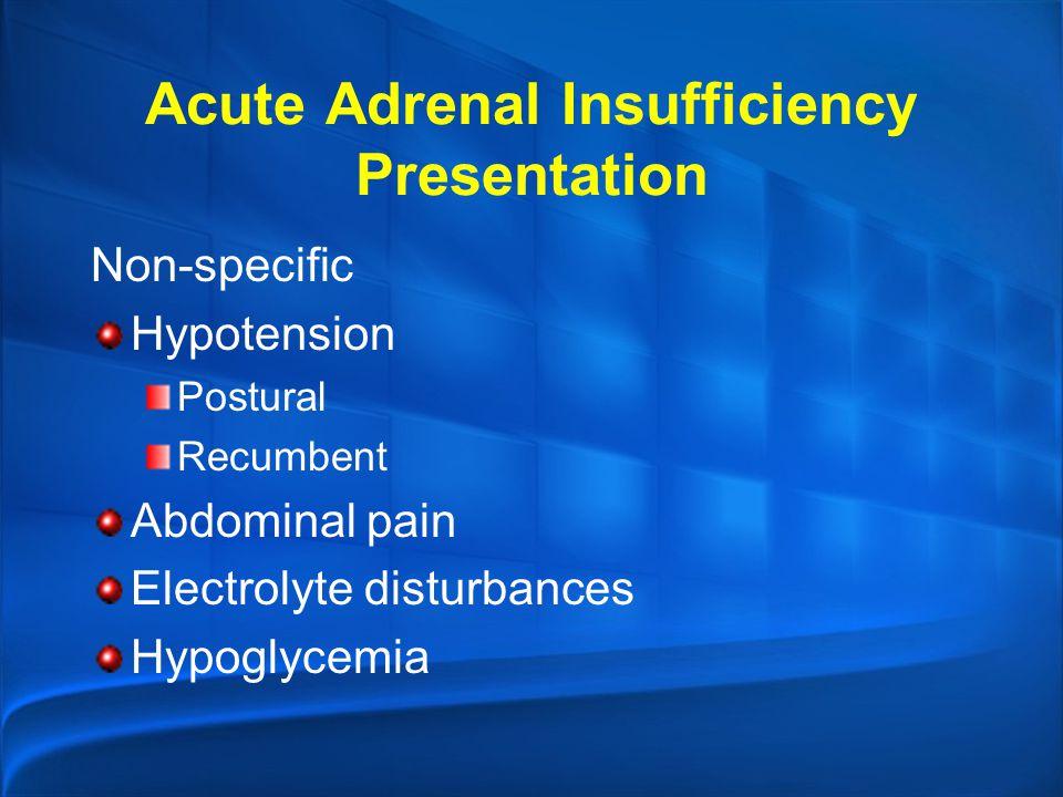 Acute Adrenal Insufficiency Presentation