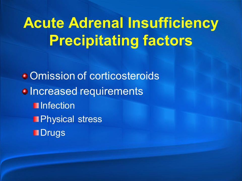 Acute Adrenal Insufficiency Precipitating factors