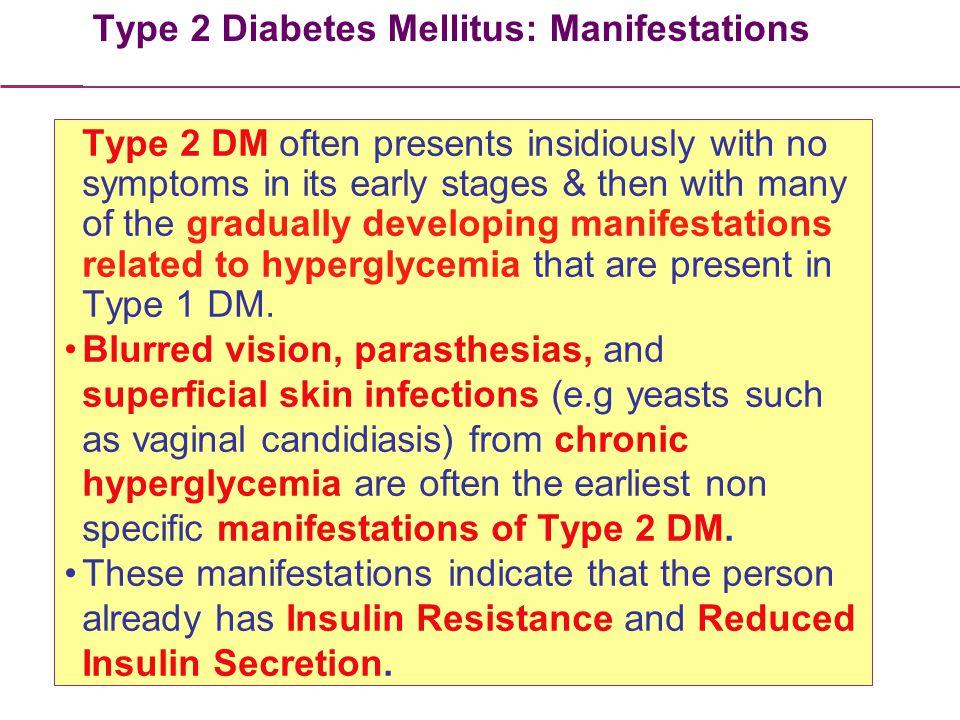 Type 2 Diabetes Mellitus: Manifestations