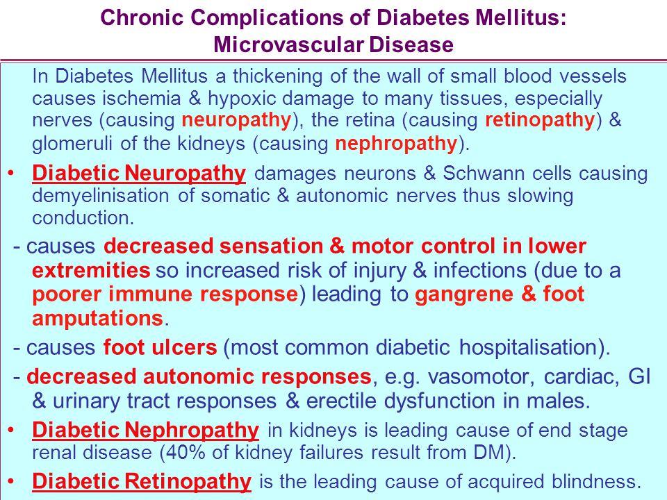 Chronic Complications of Diabetes Mellitus: Microvascular Disease