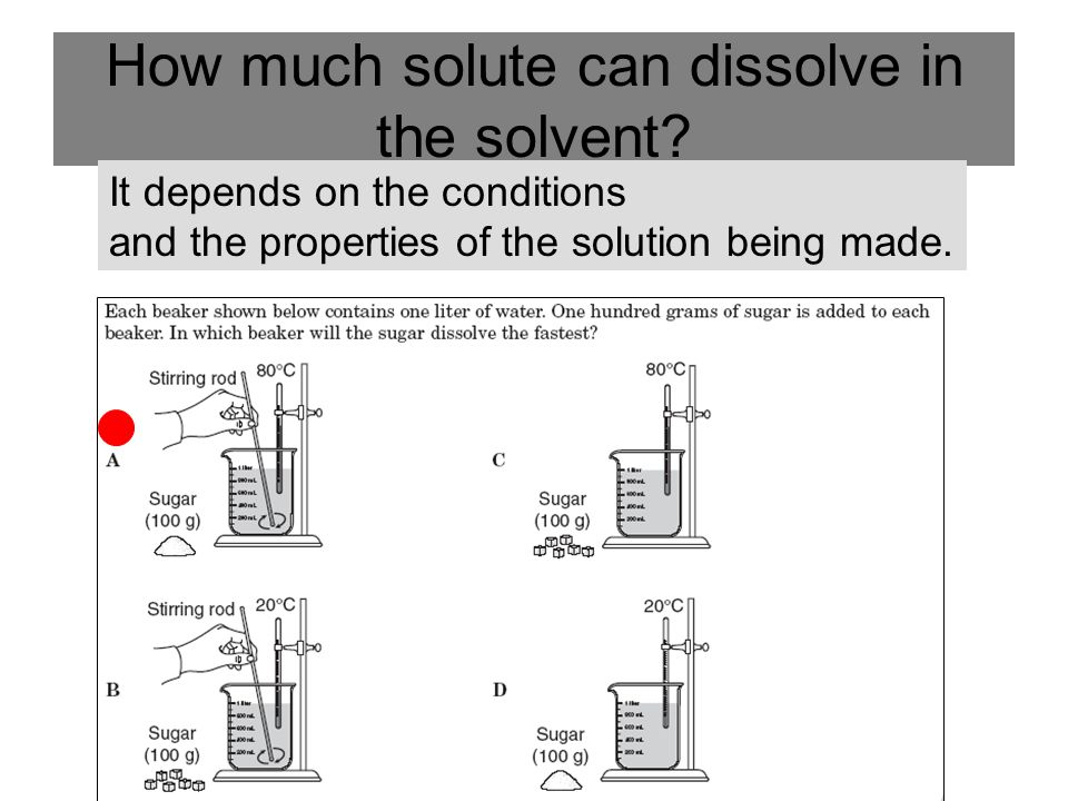 How much solute can dissolve in the solvent