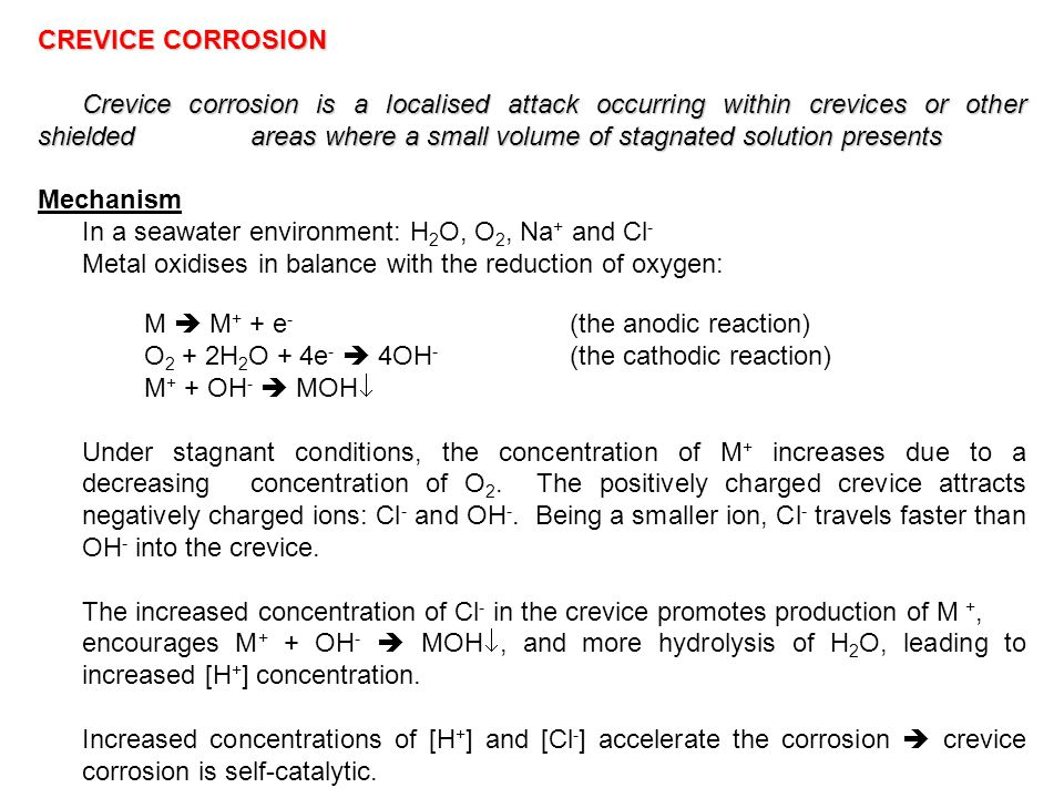 Metal oxidises in balance with the reduction of oxygen: