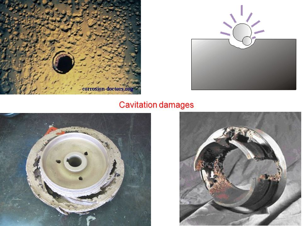 Cavitation damages