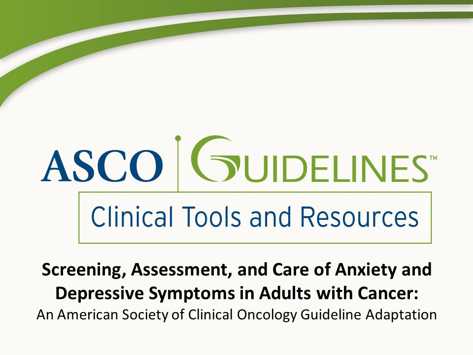 An American Society of Clinical Oncology Guideline Adaptation