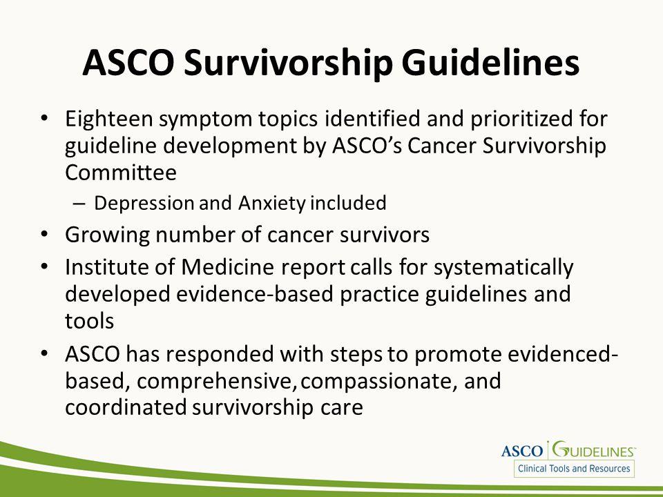 ASCO Survivorship Guidelines