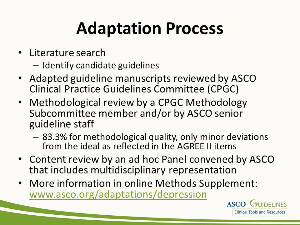 Adaptation Process Literature search
