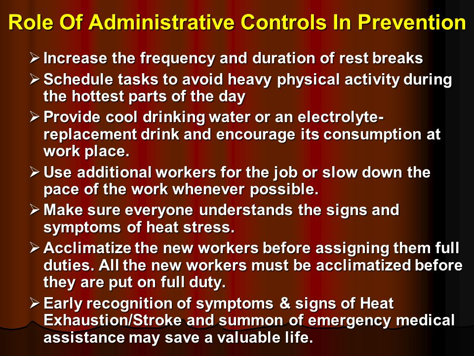 Role Of Administrative Controls In Prevention