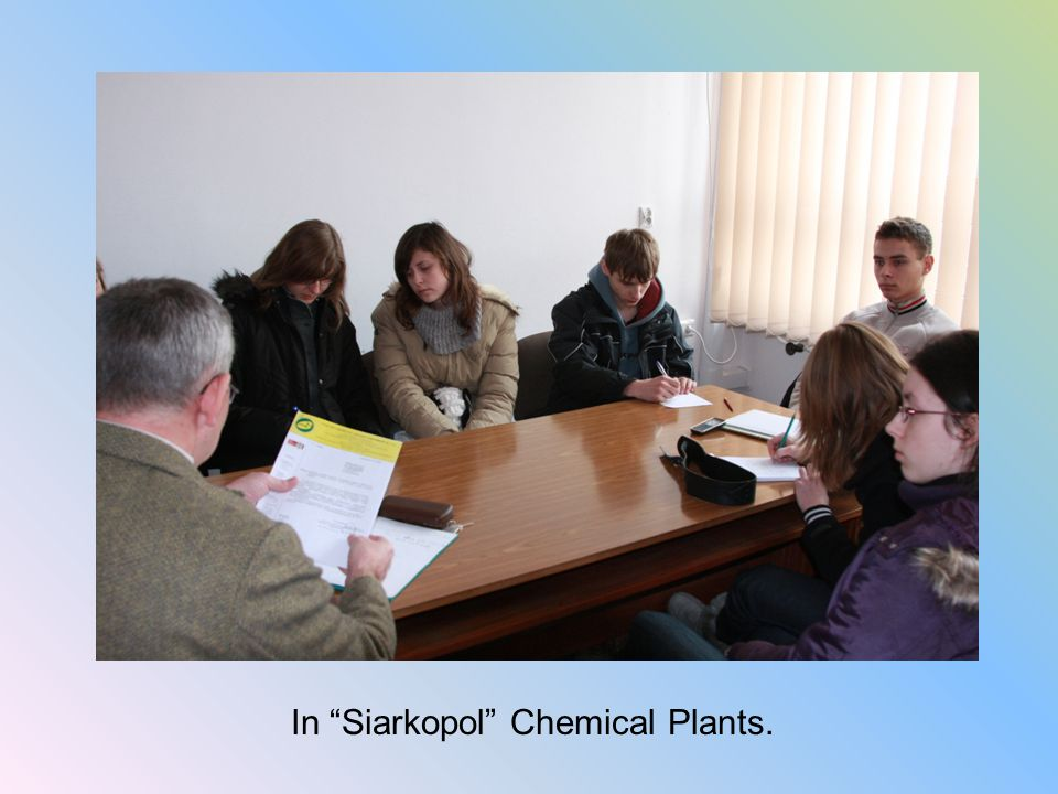 In Siarkopol Chemical Plants.