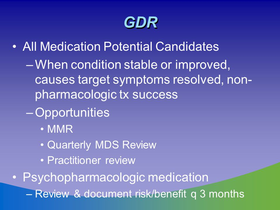 GDR All Medication Potential Candidates