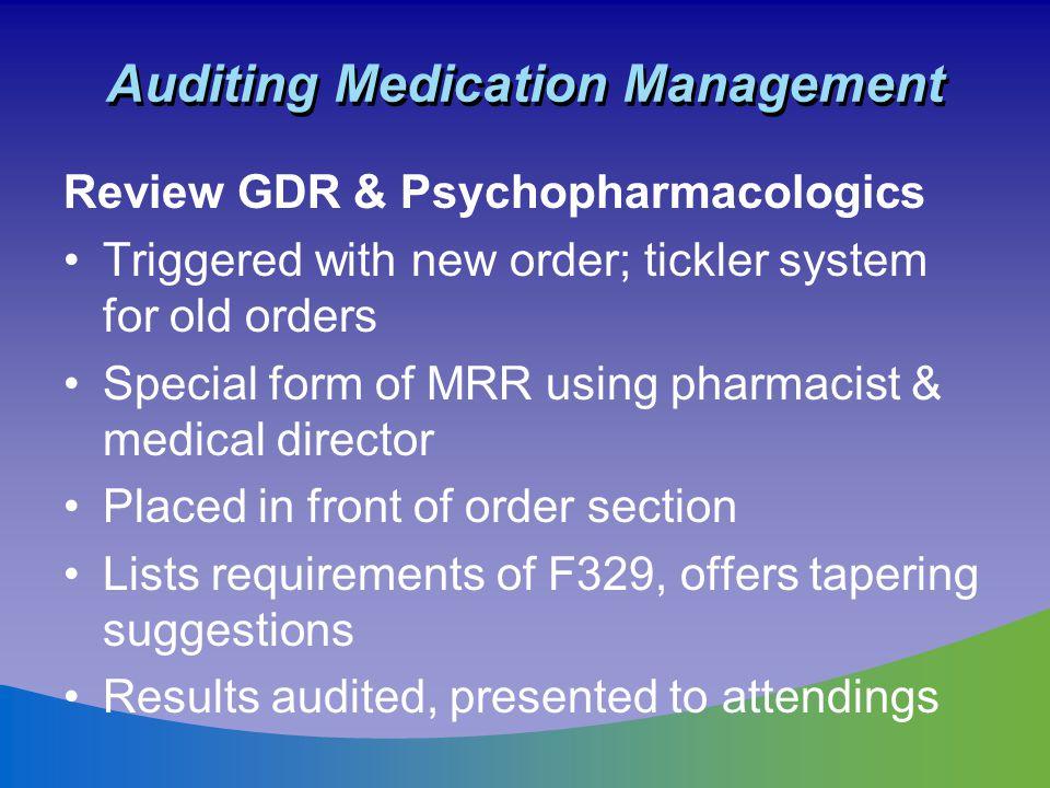 Auditing Medication Management