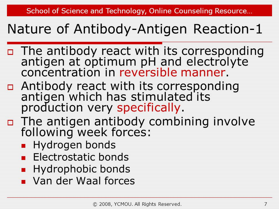 Nature of Antibody-Antigen Reaction-1