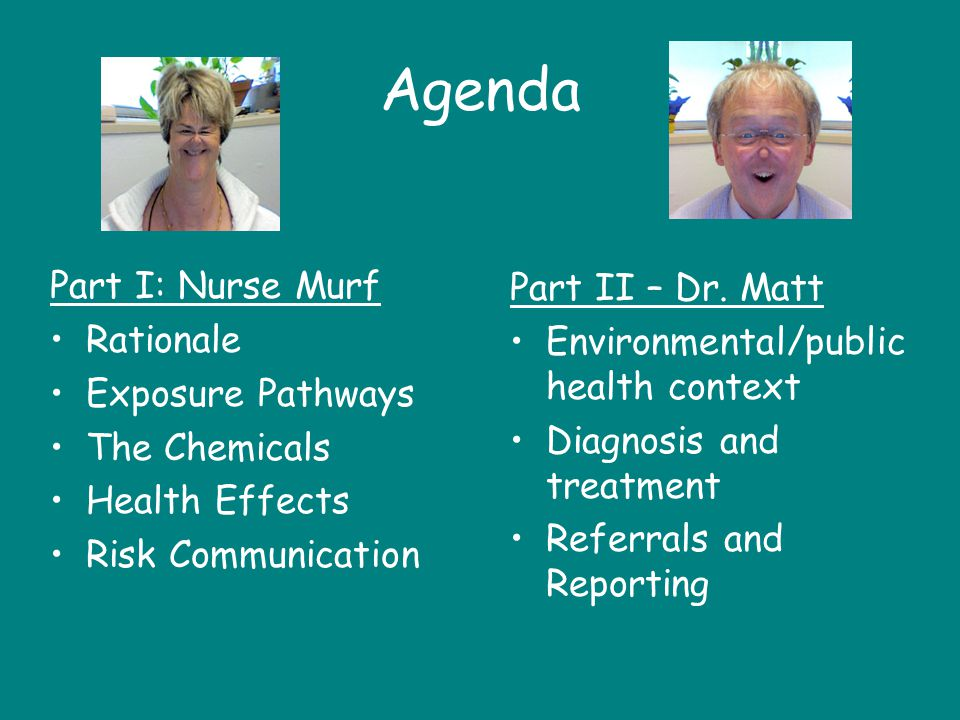 Agenda Part I: Nurse Murf Part II – Dr. Matt Rationale