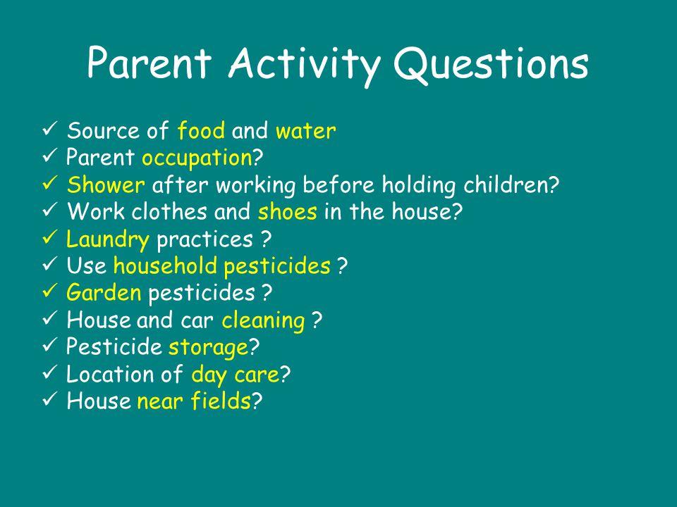 Parent Activity Questions