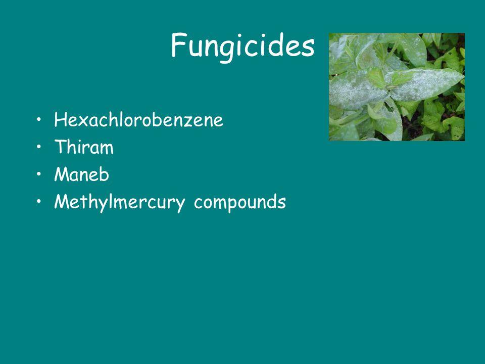 Fungicides Hexachlorobenzene Thiram Maneb Methylmercury compounds