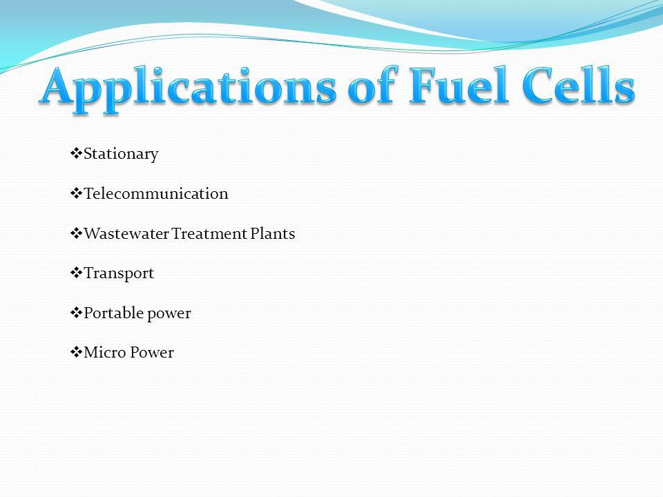 Applications of Fuel Cells