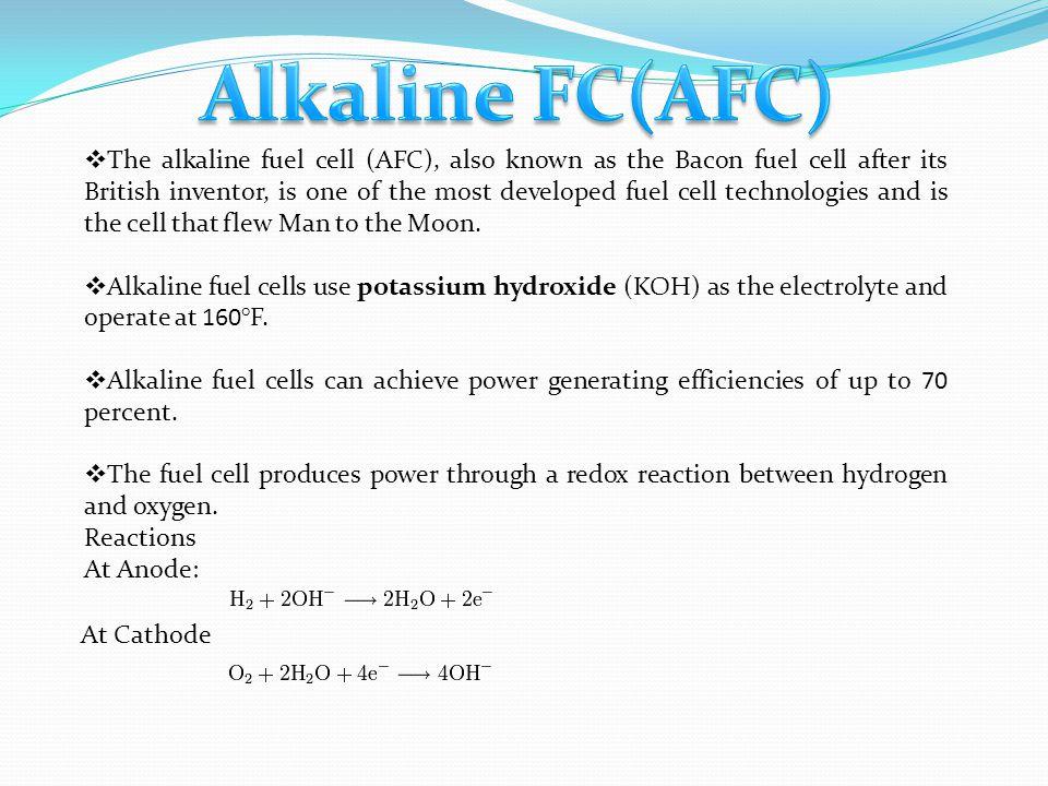 Alkaline FC(AFC)